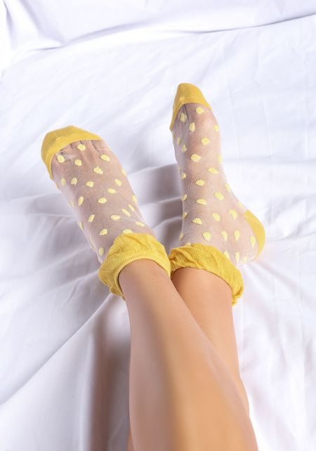 Yellow Polka Dots Socks