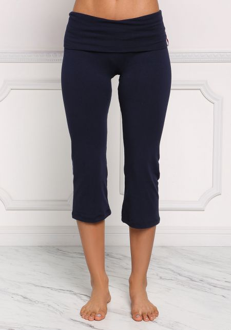 Navy Yoga Stretch Capri Pants