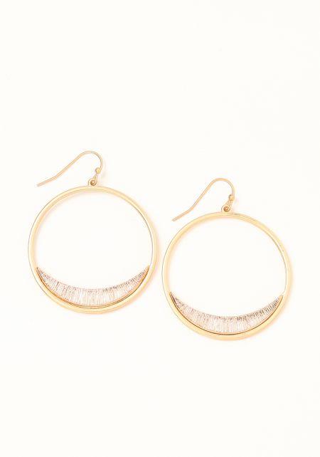 Rose Gold Textured Mini Hoop Earrings