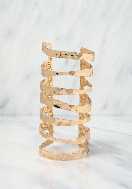 Gold Textured Arm Cuff