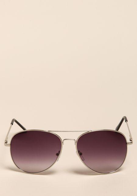 Silver Gradient Top Bar Sunglasses