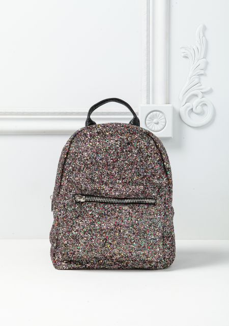 Multi Colored Glitter Backpack