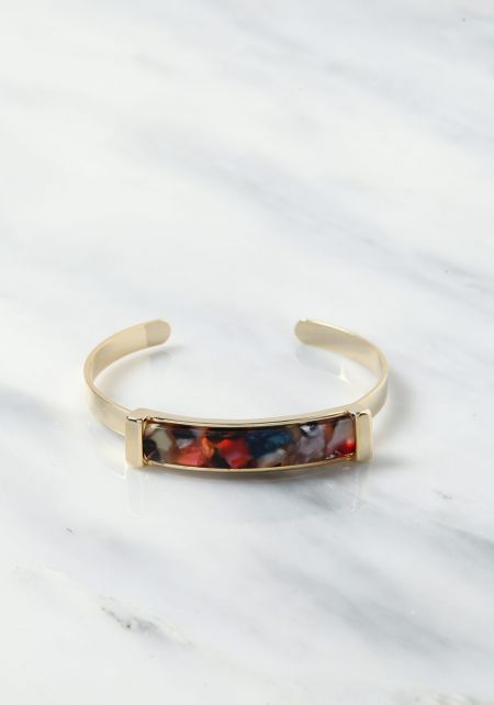 Multi Thin Resin Cuff Bracelet