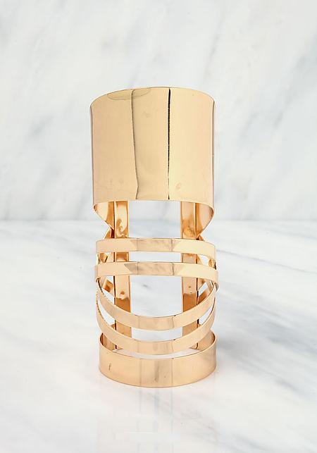 Gold Curved Cuff Bracelet