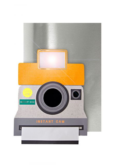 Instant Cam Light Up Birthday Card