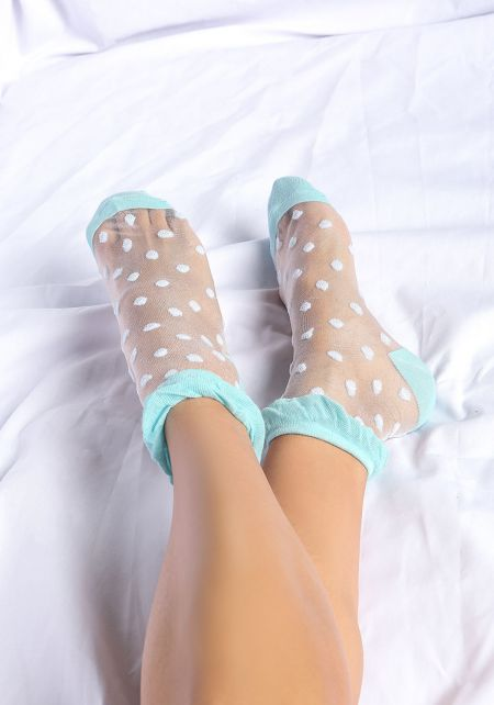 Blue Polka Dots Socks