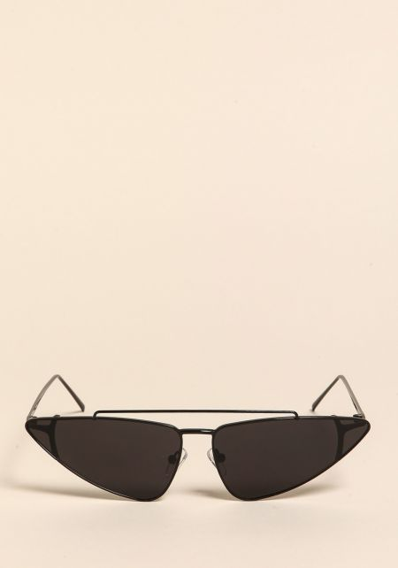 Black Pointed Top Bar Sunglasses