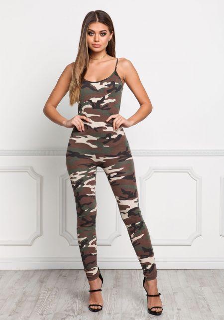 Camouflage Leotard Jumpsuit