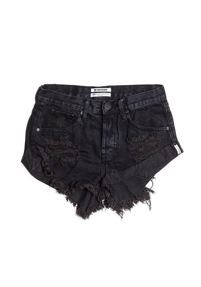 570f6056ce406b Junior Clothing | One Teaspoon Bandits Cut Off Shorts in Fox Black |  Loveculture.com