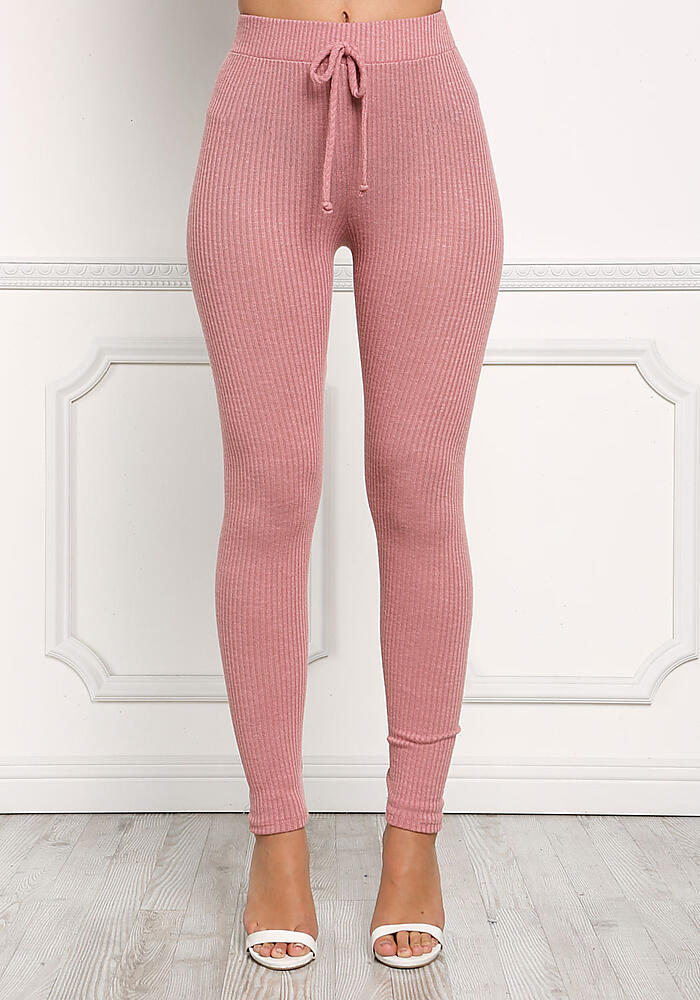 purchase original search for best really comfortable Junior Clothing   Dusty Pink Ribbed Knit Leggings ...