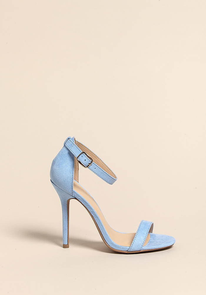 Junior Clothing Light Blue Stiletto Ankle Strap Heels