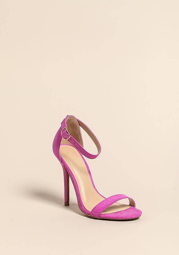 1d789ade32f Light Purple Stiletto Ankle Strap Heels