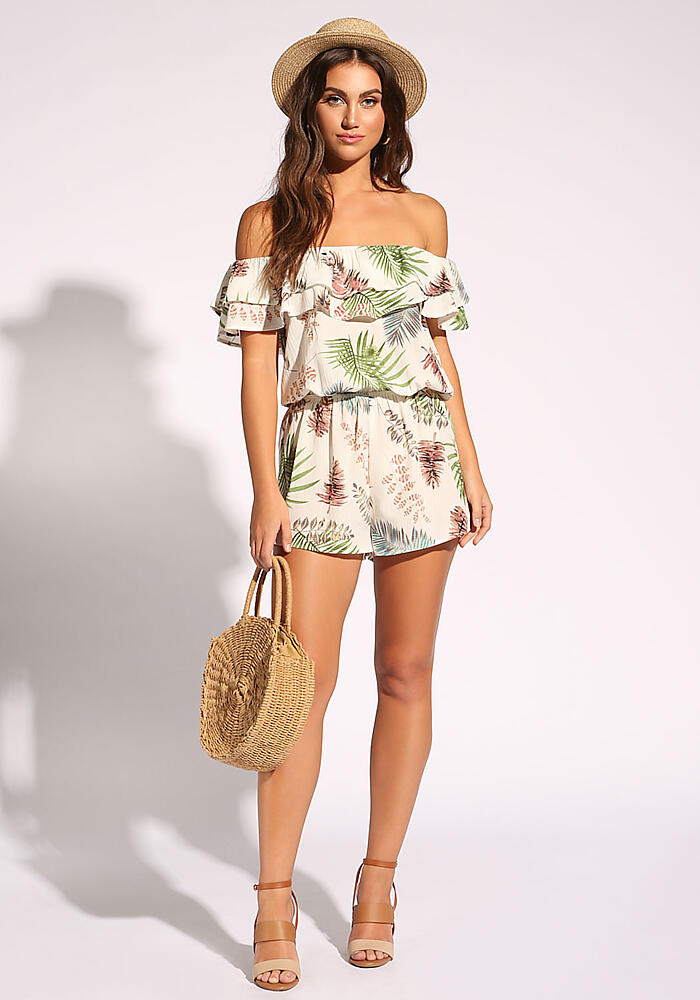 Junior Clothing | Ivory Leaf Layered Romper - New | Loveculture.com | Tuggl