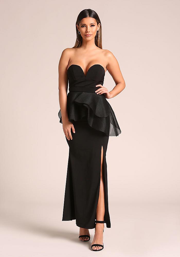 black sweetheart dress