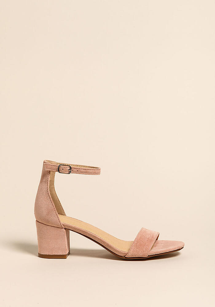 21640074bcb Dusty Rose Short Ankle Strap Heels