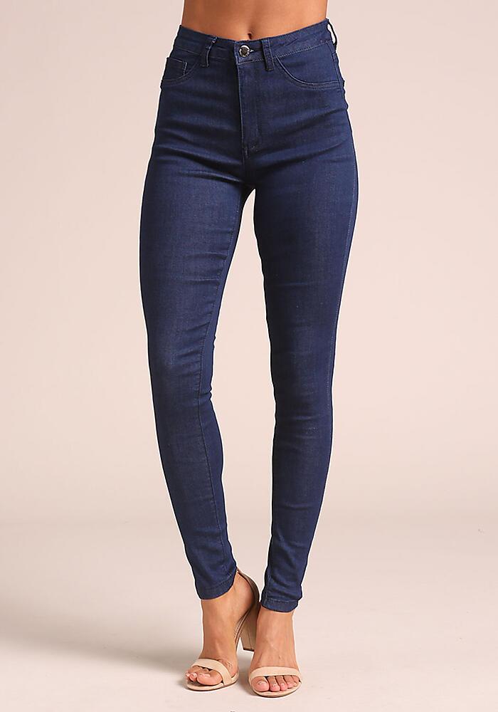 Junior Clothing | Dark Denim High Rise Skinny Jeans | Loveculture.com | Tuggl