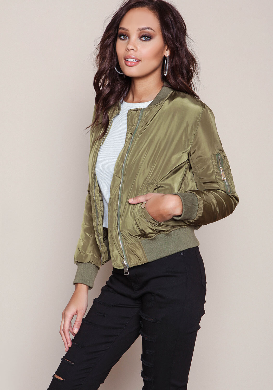 How to satin a wear bomber jacket catalog photo